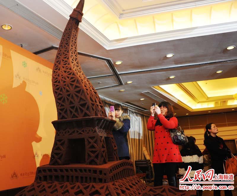 巧克力制作的巴黎铁塔