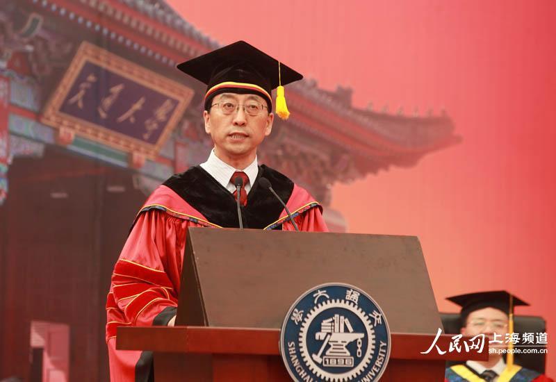 上海交大毕业典礼上,校长张杰温情寄语毕业生