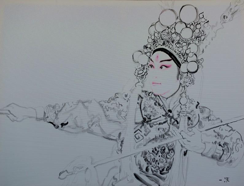 中国梦画画绘画作品