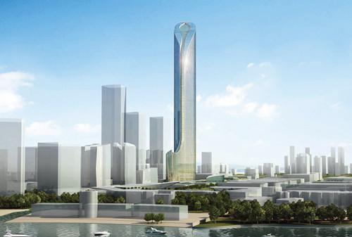 江苏第一高楼钢结构工程开建