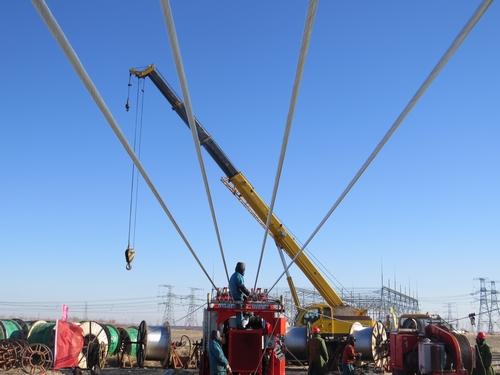 送变电工程公司承建的开鲁-科尔沁500千伏线路工程