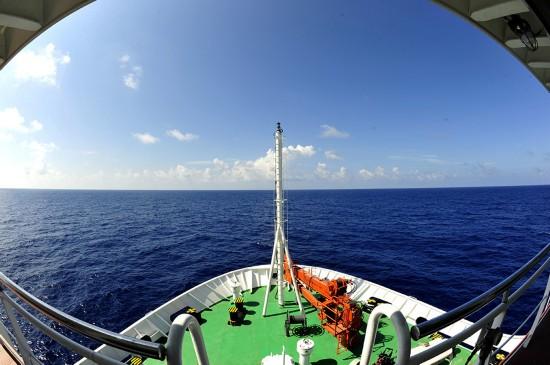 """""""张謇""""号抵达南海"""