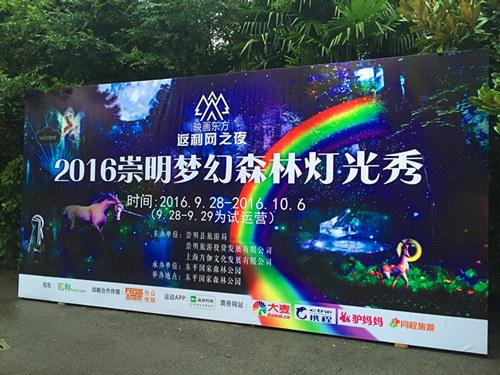 梦幻森林灯光秀空降上海崇明岛