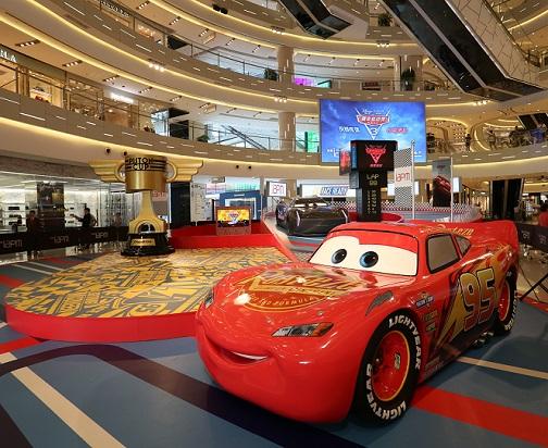 环贸iapm商场暑期上演赛车总动员3电影主题展两大主角闪电麦坤杰