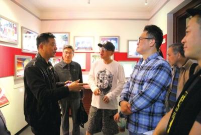 电影《密战》主创团队探访李白烈士故居纪念馆