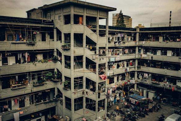 上海有座古罗马斗兽场般的居民楼
