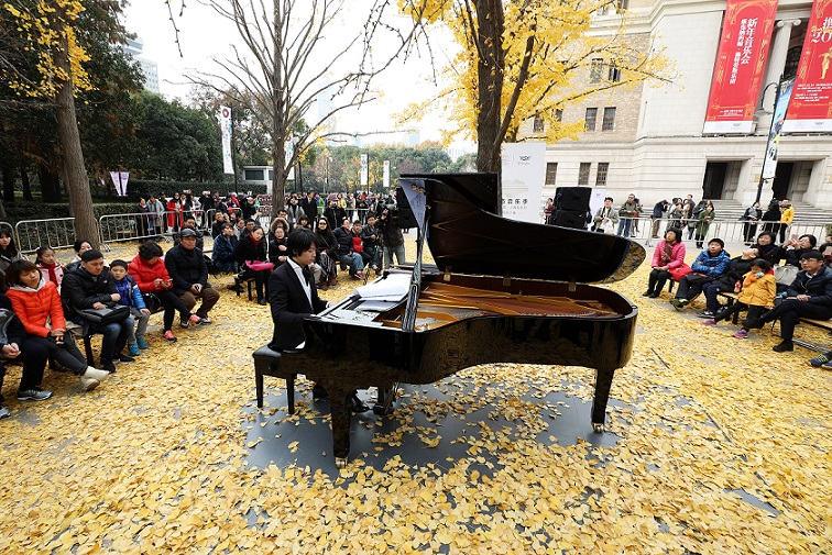 """一场落叶与音乐的约会 申城市民再迎最美""""银杏音乐会"""""""