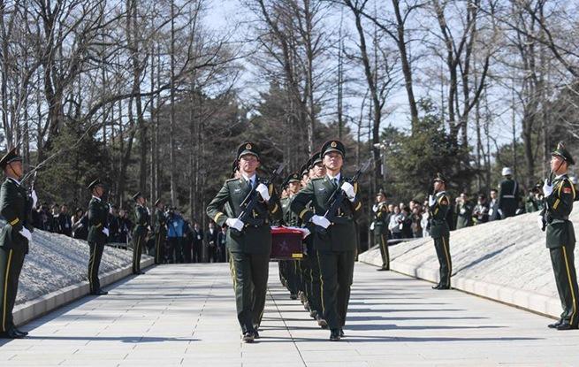 在韩中国人民志愿军烈士遗骸回家