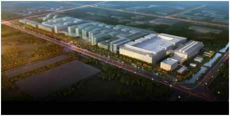 华虹无锡集成电路研发和制造基地鸟瞰示意图