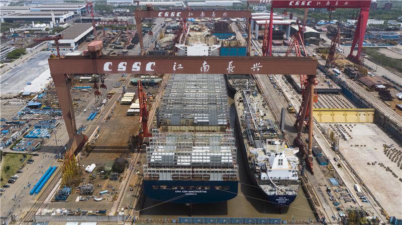 江南造船迎来两船下水两船起浮 江南造船供图