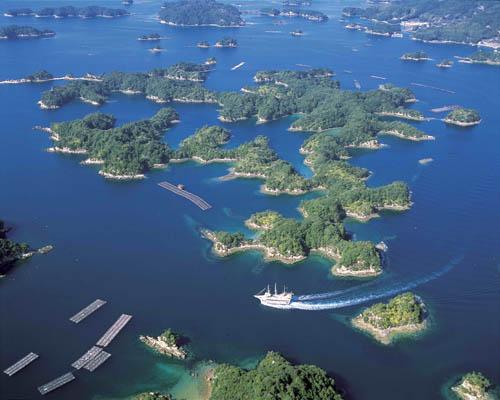 九十九岛俯视图