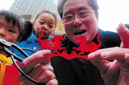剪纸老虎欢度元宵--上海频道--人民网