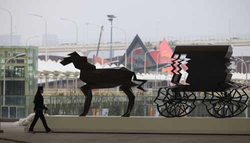 上海世博园四大雕塑项目落成